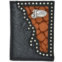 Justin Black Western Trifold Wallet
