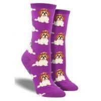 Socksmith Purple I Shih Tzu Not Women Socks WNC1594