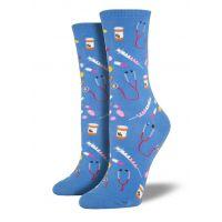 SockSmith Blue Womens Meds Socks WNC394-CFB