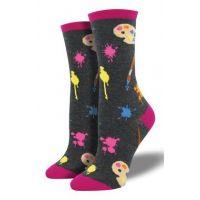 SockSmith Charcoal Womens Painters Palette Socks WNC902