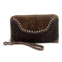 WRL-W003 Brown Tooling Collection Wallet by Montana West