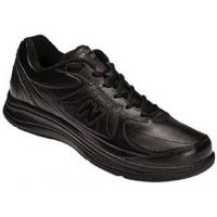 WW577BK Health Walker Leather Cushioned Comfort Womens Walking Shoes