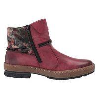 Rieker Wine Womens Comfort Ankle Booties Z6771-35