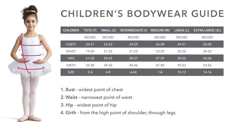 Capezio Girls Bodywear
